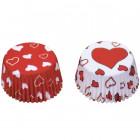 Caissettes à Cupcakes et Muffins «coeur».