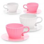 2 moules tasse à café rose