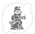 Petit pochoir «bonhomme de neige»