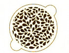 Pochoir «feuilles»