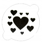 Pochoir «plusieurs coeurs»