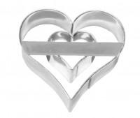 Emporte-pièce Cœur avec cœur intérieur